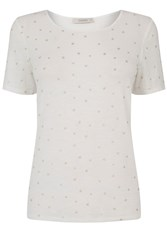 Oasis Star Foil Tee Off White