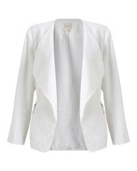 East Linen Waterfall Jacket White