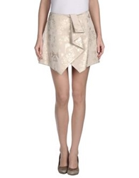 Uniqueness Mini Skirts Beige