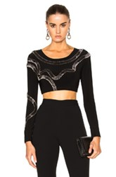 Norma Kamali X Fwrd Exclusive Safety Pins Cropped Top In Black