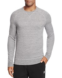 Bloomingdale's The Men's Store At Merino Wool French Terry Crewneck Sweater Grey Melange