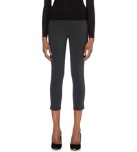 Ted Baker Cropped Stretch Cotton Trousers Dark Green