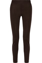 Moschino Cheap And Chic Woven Tapered Pants Brown