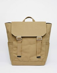 Asos Backpack With Military Styling Green