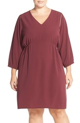 Plus Size Women's Carmakoma V Neck A Line Dress