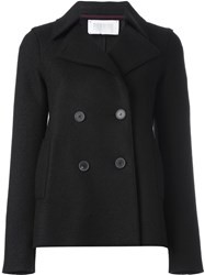 Harris Wharf London Double Breasted Short Pea Coat Brown