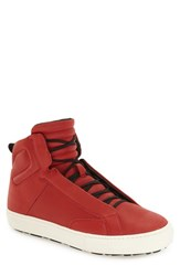 Aldo Men's 'Qelalle' High Top Sneaker Red Leather
