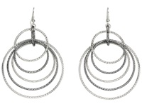 Anyone's Guess Multi Linked Hoop Earrings Multi Earring