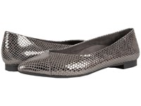 Vionic Gem Caballo Ballet Flat Gunmetal Snake Women's Flat Shoes Multi
