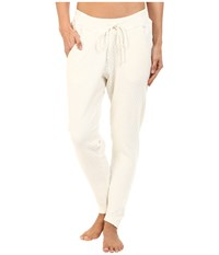 Hard Tail Quilt Front Low Ride Pants Cream Women's Workout Beige