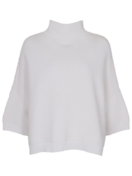 French Connection Spring Mozart High Neck Jumper Summer White