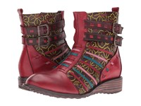 Spring Step Dasha Red Women's Lace Up Boots