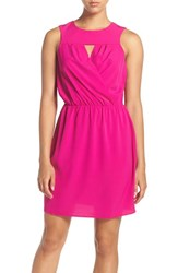 A By Amanda Women's 'Morrissey' Keyhole Blouson Dress Hot Pink