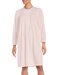 Miss Elaine Floral Embroidered Nightgown Pink