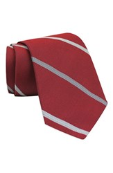 Gitman Brothers Vintage Men's Stripe Woven Silk Tie Red