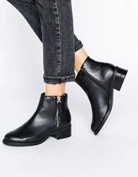 Miss Kg Janice Low Heel Boot Black Synthetic