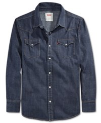 Levi's Standard Barstow Western Long Sleeve Denim Shirt Dark Rinse