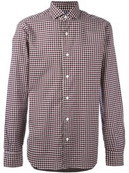 Barba Checked Shirt Red