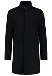 Pier One Classic Coat Dark Blue