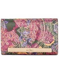 Patricia Nash Metallic Tooled Lace Cametti Wallet Metallic Paisley