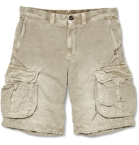 Incotex Cotton And Linen Blend Cargo Shorts Neutrals