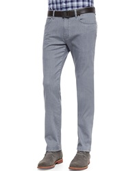 Ermenegildo Zegna Slim Fit Denim Jeans Dark Gray