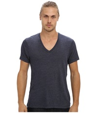 Alternative Apparel Boss V Neck Tee Eco True Navy Men's Short Sleeve Pullover