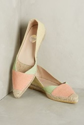 Anthropologie Ras Colorblock Espadrilles Coral 39 Euro Flats