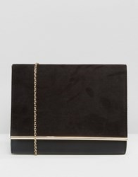 Lotus Envelope Clutch Bag Black Microfibre Mat