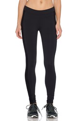 Solow Lace Cut Out Capri Pant Black