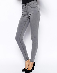 Just Female Stroke High Waist Skinny Jeans Darkgrey