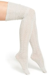 Women's Free People 'Bowery' Over The Knee Socks Grey Dove Grey