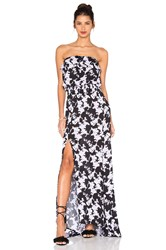 Karina Grimaldi Jaffa Print Maxi Dress Black