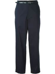 Golden Goose Deluxe Brand Belted Chino Trousers Blue