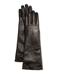 Grandoe Elbow Length Leather Tech Gloves Black