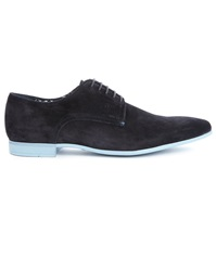 Billtornade Flirt Navy Suede Split Leather Brogues With Blue Sole