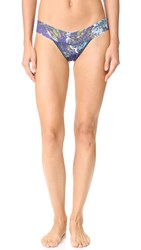 Hanky Panky Blue Roses Low Rise Thong