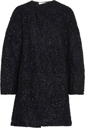 Vanessa Bruno Athe Babacar Embroidered Wool Blend Coat Black
