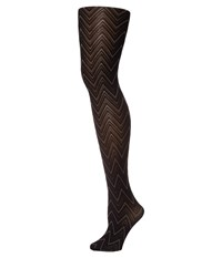 Pretty Polly Chevron Tights Black Mix Hose