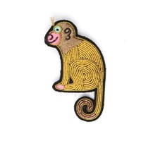 Macon Et Lesquoy Embroidered Monkey Brooch
