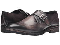 Messico Alejandro Vintage Black Leather Men's Flat Shoes