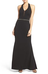 Js Collections Women's Embellished Halter Gown