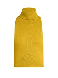 Palmer Harding Roll Neck Backless Wool Knit Top Yellow