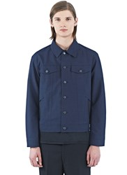 Yang Li Technical Denim Style Jacket Navy