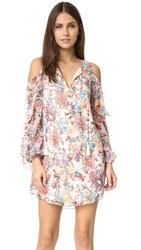Haute Hippie Flowers In The Sun Cold Shoulder Dress Paisley Floral