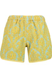 Vivetta Brocade Shorts Yellow