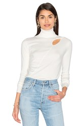 525 America Cut Out Sweater White