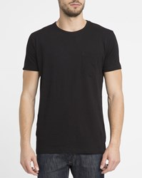 Revolution Black 1002 Chest Pocket Round Neck T Shirt