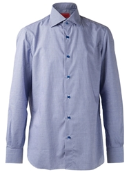 Isaia Basic Button Shirt Blue