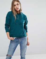 Missguided Pocket Front Hoodie Green